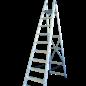 ASC ® Trittleiter / Klapptritt 1 x 10 mit Werkzeugablage
