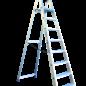ASC ® Trittleiter / Klapptritt 1 x 8 mit Werkzeugablage