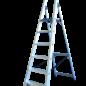 ASC ® Trittleiter / Klapptritt 1 x 6 mit Werkzeugablage