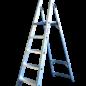 ASC ® Trittleiter / Klapptritt 1 x 5 mit Werkzeugablage