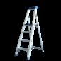 ASC ® Trittleiter / Klapptritt 1 x 4 mit Werkzeugablage
