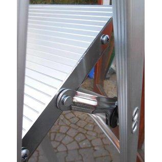 ASC ® Trittleiter / Klapptritt 1 x 11 mit Werkzeugablage