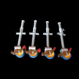 Gerüst-Outlet 4 Stück Gerüstrollen 125 mm, universal kompatibel