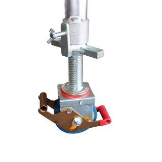 Gerüst-Outlet Gerüstrolle 125 mm mit Stahlspindel, 4 Stück im Set