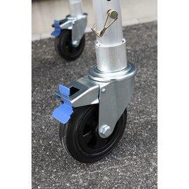 AC Steigtechnik 4 Stück Gerüstrolle 150 mm Gummi, Set