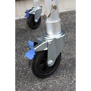 ASC ® Gerüstrolle 150 mm Gummi, 4 Stück im Set