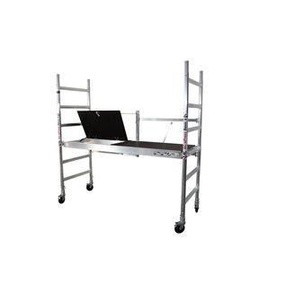 AC Steigtechnik Zimmerfahrgerüst, Rollgerüst, klappbar bis 3,0 m Arbeitshöhe, erweiterbar