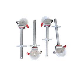 AC Steigtechnik 4 Stück Gerüstrollen kompatibel zu Layher* - Gerüsten