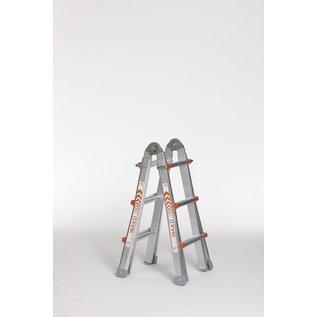 WAKÜ WAKÜ Profi-Mehrzweckleiter 4 x 3, Bockleiter, Stehleiter,  Teleskopleiter, Anlege-Leiter