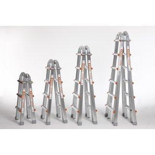 WAKÜ WAKÜ Profi-Mehrzweckleiter 4 x 5, Bockleiter, Stehleiter,  Teleskopleiter, Anlege-Leiter