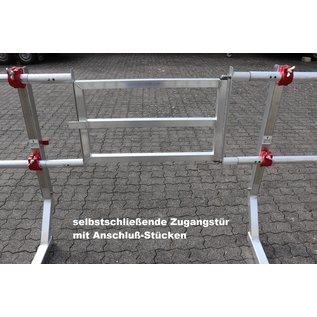 AC Steigtechnik AC Dachrand-Sicherung, 2-teilig, Flachdach-Absturzsicherung, DIN EN 13 374, Schutzklasse A