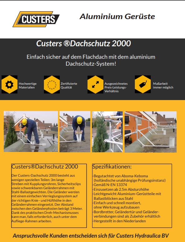 CUSTERS Dachrandsicherung 2000