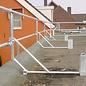 CUSTERS ® CUSTERS Dachrand-Sicherung mit Fußbrett, 3-teilig, Flachdach-Absturzsicherung, DIN EN 13 374, Schutzklasse A