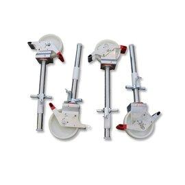 Gerüst-Outlet 4 Stück Gerüstrollen 200 mm, universal kompatibel