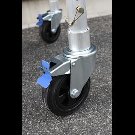 AC Steigtechnik 4 Stück Gerüstrolle 125 mm Gummi, Set