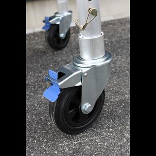 AC Steigtechnik Gerüstrolle 125 mm Gummi, 4 Stück im Set