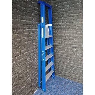 ASC ® Stufenstehleiter 1 x 5 Stufen mit Werkzeugablage und breiten Stufen