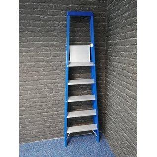 Stufenstehleiter 1 x 5 Stufen mit Werkzeugablage und breiten Stufen