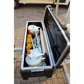 "AC Steigtechnik Gerüstanhänger ""X-Safe 250"" abschließbar inkl. Gerüst bis 12,30 m, 75er Rahmen"