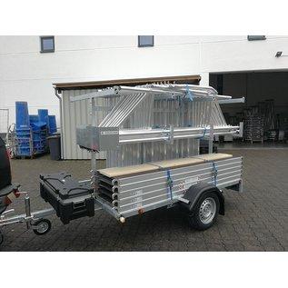 AC Steigtechnik Gerüstanhänger komplett ausgestattet inkl. Profi-Gerüst bis 12,30 m
