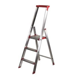 "Rise-Tec Rise-Tec Stufenstehleiter ""Red Label"" 3-12 Stufen mit Ablageschale"
