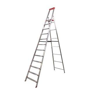 """Rise-Tec Rise-Tec Stufenstehleiter """"Red Label"""" 3-12 Stufen mit Ablageschale"""