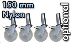Rollen 125 mm Nylon, steckbar