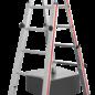HYMER HYMER Treppenstehleiter, Treppen-Leiter 4123, Holme stufenlos verstellbar