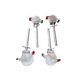 Gerüst-Outlet 4 Stück Gerüstrollen 200 mm, LAYHER* kompatibel