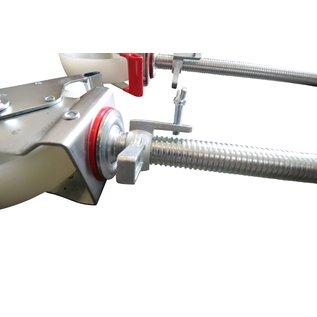 Gerüst-Outlet SET Gerüstrollen 200 mm kompatibel zu Layher* und anderen Gerüsten, 4 Stück