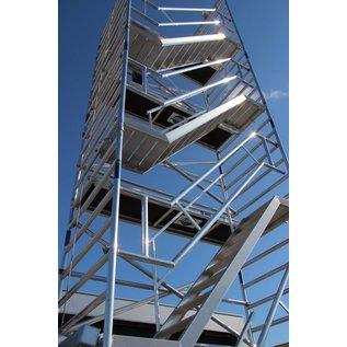 AC Steigtechnik Treppenturm, Gerüstturm mit 250 cm Plattformlänge, 135er Rahmenbreite