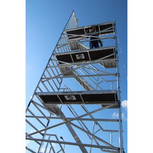 ASC ® Treppenturm, Gerüstturm mit 305 cm Plattformlänge, 135er Rahmenbreite
