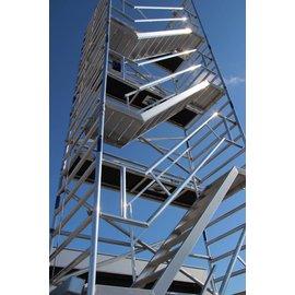 AC Steigtechnik Treppenturm 135-190 mit 8 m Arbeitshöhe