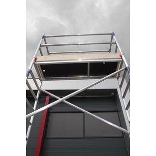 AC Steigtechnik Alu-Rollgerüst 75-200 bis 4,30 m Arbeitshöhe, Profi-Gerüst nach N-EN 1004 & 1298, TÜV/GS