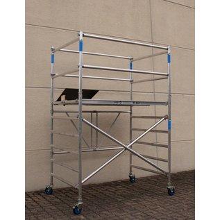 AC Steigtechnik Zimmerfahrgerüst XL-Knick, Rollgerüst, große Plattform, TÜV/GS geprüft