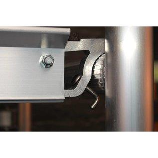 "CUSTERS ® Zimmerfahrgerüst ""Foldy"", Rollgerüst, Plattform mit Luke, TÜV/GS geprüft, 3,0 m"