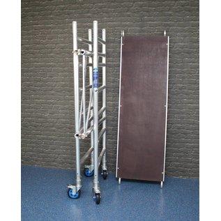 ASC ® Zimmerfahrgerüst mit massivem Knick-Scharnier, Rollen 150 mm, TÜV/GS