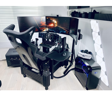 The biggest sim racing hardware collection!