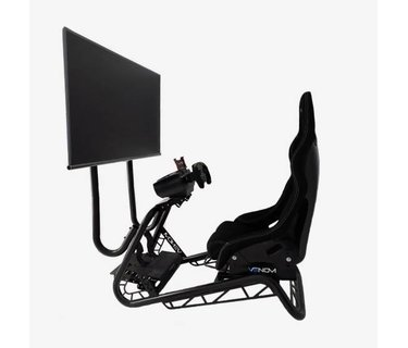 Compact Sim Racing Cockpit Ideal For Beginners