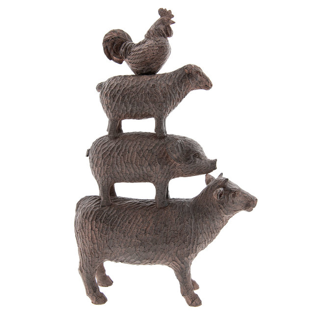 Clayre & Eef Decoratie dieren 24*7*38 cm 6PR2326