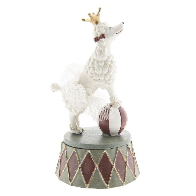 Clayre & Eef Decoratie hond 9*9*15 cm 6PR2421