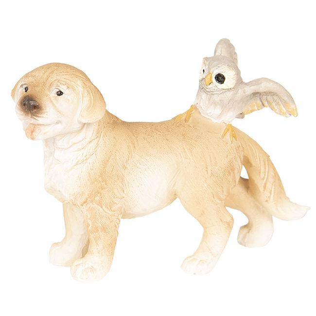 Clayre & Eef Decoratie hond 9*4*6 cm 6PR2585