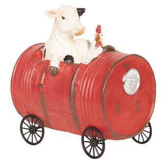 Clayre & Eef Clayre & Eef Decoratie koe en kip in vat 13*9*14 cm 6PR2613