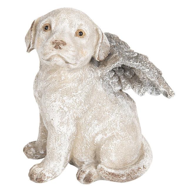 Clayre & Eef Decoratie hond met vleugels 16*13*20 cm 6PR2659