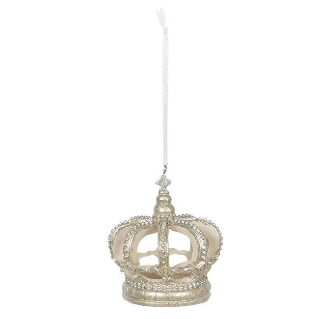Clayre & Eef Decoratie hanger kroon Ø 6*8 cm 6PR2755
