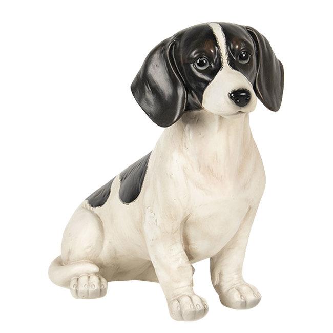 Clayre & Eef Decoratie hond zittend 37*17*32 cm 6PR2922