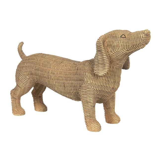 Clayre & Eef Decoratie hond 39*14*24 cm 6PR2924