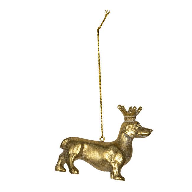 Clayre & Eef Decoratie hond 8*3*6 cm 6PR2927