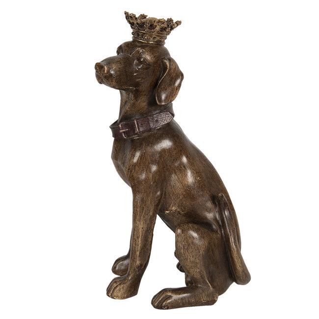 Clayre & Eef Decoratie hond zittend 21*18*40 cm 6PR3008
