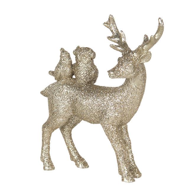 Clayre & Eef Decoratie hert 11*4*13 cm 6PR3022
